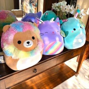 "🦁16"" Squishmallow Richard Cienna Reina Trio Set🦋"